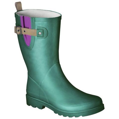 Unique Women39s Novel Dot Rain Boots  Target