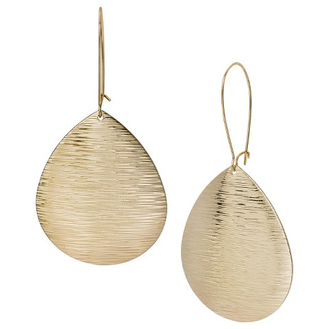 Textured Teardrop Earrings - Gold