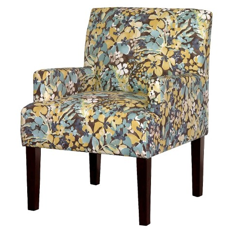 Dolce Upholstered Arm Chair - Blue/Yellow Floral