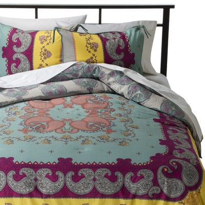 Lola Reversible Comforter Set King Multicolor - Boho Boutique™