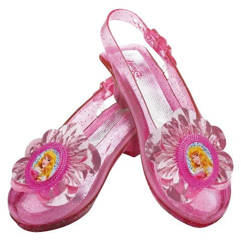 Girl's Disney Princess Aurora Sparkle Shoes - One Size Fits Most