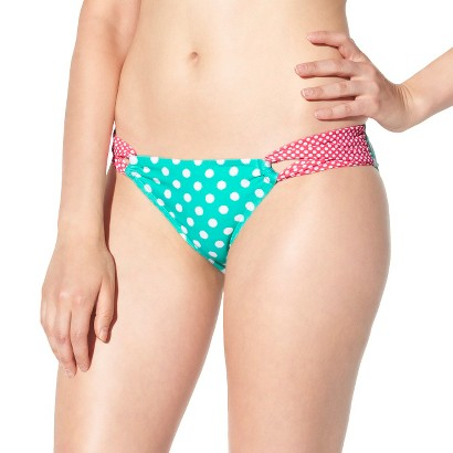 Xhilaration® Junior's Hipster Swim Bottom -Polka Dot