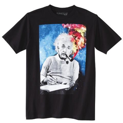 Men's Albert Einstein T-Shirt Black