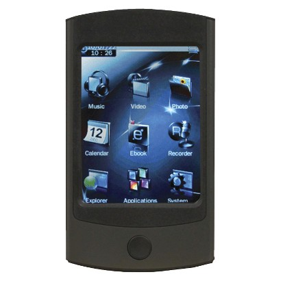 Mach Speed 4GB 2.8V Flash MP3 Player - Gunmetal (ECL28VGMT)