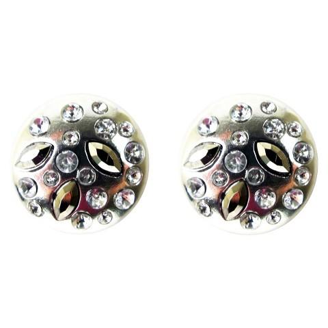 Stonned Stud Earrings - Clear/Gold