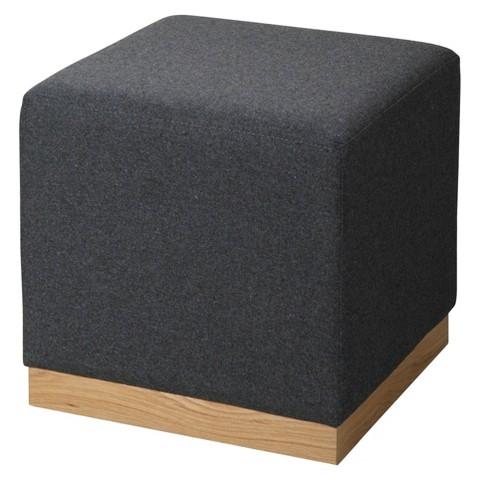 RE Cube Ottoman Gray
