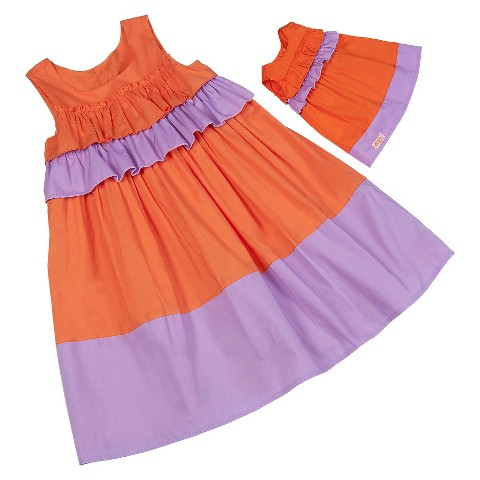 Our Generation & Me Fashion Set - Coral/Lavender Dresses