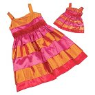 Our Generation Doll & Me Fashion Set - Orange/Red Party Dresses