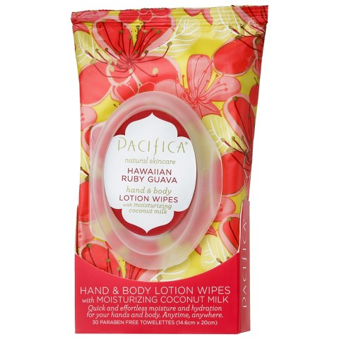 Pacifica Hawaiian Ruby Guava Hand & Body Lotion Wipes - 30 ct