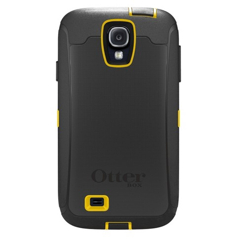 Otterbox Defender Cell Phone Case for Samsung Galaxy S4 - Black/Yellow (OB SGS4DEF)