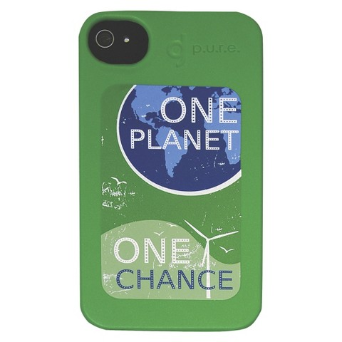 BioCase One Planet One Chance Cell Phone Case for iPhone®4 - Green (BIO-IP4-28G4)