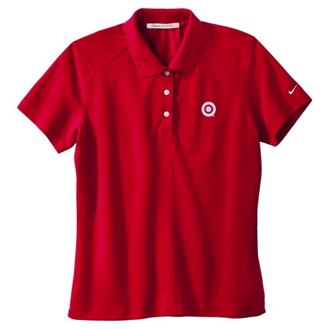 Women's Nike Golf Dri-Fit Red Polo with Buttons