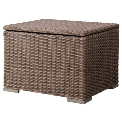 Threshold™ Heatherstone Wicker Patio Sectional Storage Ottoman