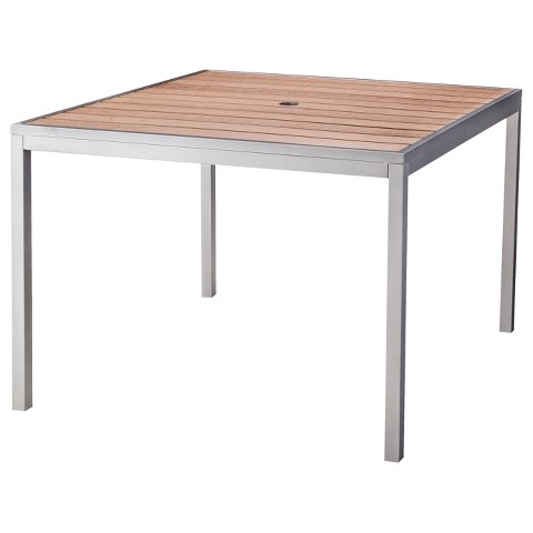 bryant faux wood square patio dining table thr target