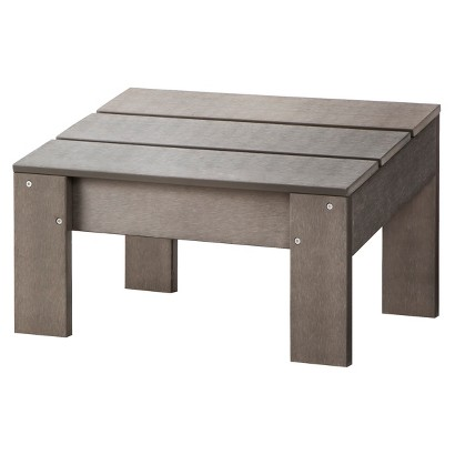 Threshold™ Bryant Faux Wood Patio Adirondack Ottoman - Gray