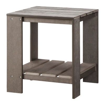 Bryant Faux Wood Adirondack Patio Accent Table - Gray - Threshold™