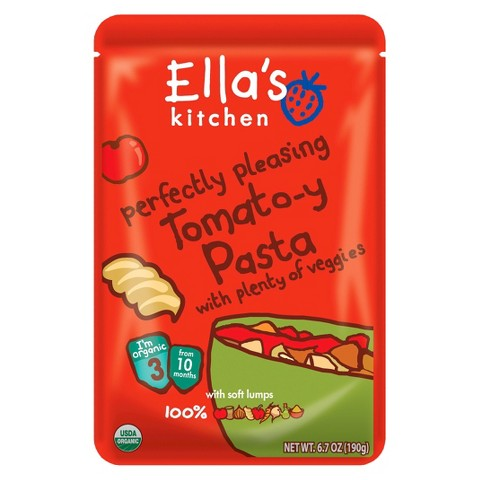 Ella's Kitchen Organic Pureed Baby Food Pouch - Stage 3 Tomato-y Pasta with Veggie 6.7oz