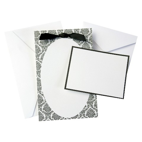Black And White Oval Wedding Invitations (50 count)
