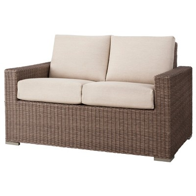 Threshold™ Heatherstone Wicker Loveseat - Tan