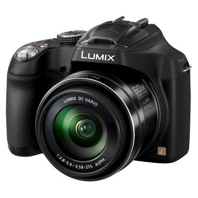 Panasonic FZ70K 16.1MP Digital Camera with 60x Optical Zoom - Black (DMC-FZ70P-K)