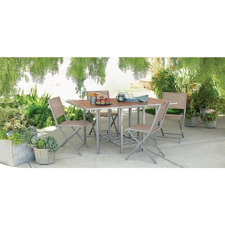Bryant 5 Piece Sling Stowable Folding Patio Dining Furniture Set Threshold