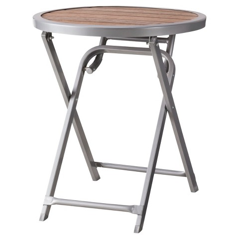 Threshold™ Bryant Faux Wood Folding Patio Accent Table