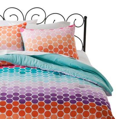 Xhilaration Geometric Comforter Set - Orange (Full/Queen)