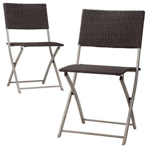 Threshold™ Russell 2-Piece Wicker Patio Dining Chair Set