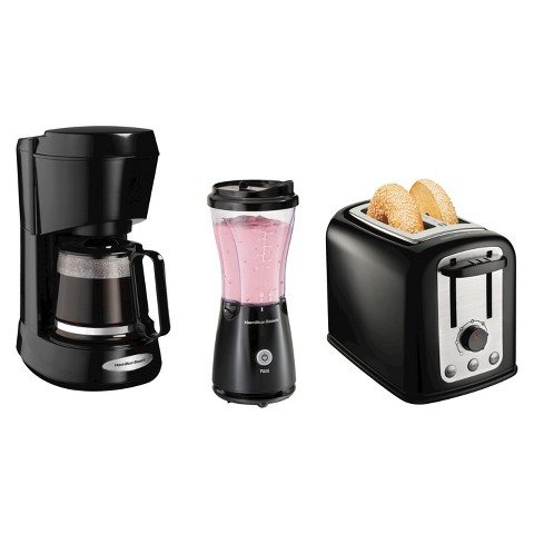 Hamilton Beach Coffee Maker, Toaster & Blender Bundle - Black
