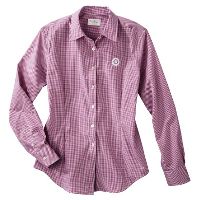 Women's Gingham Long Sleeve Twill Shirt