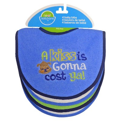 Neat Solutions® 4pk Att Sayings Knit Terry Bib Set