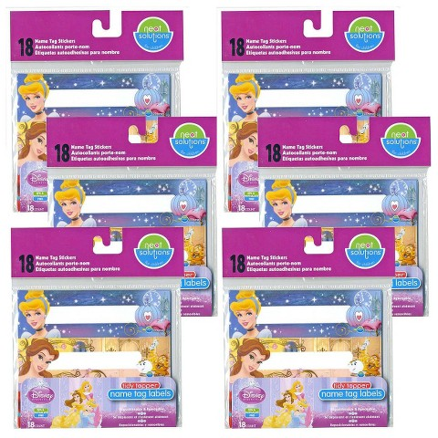 Neat Solutions® Disney Princess 108ct Name Tag Stickers