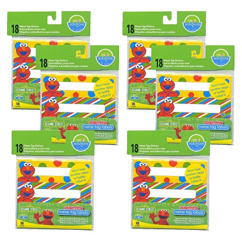 Neat Solutions® Sesame Street 108ct Name Tag Sticker