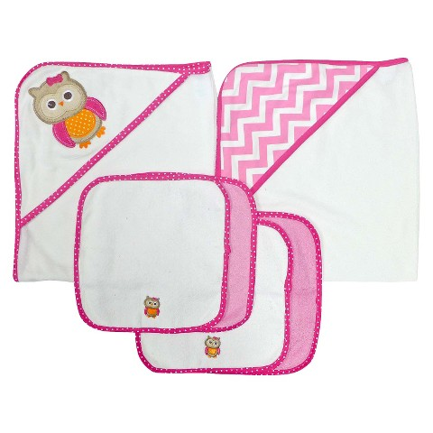 Neat Solutions® Owl 2 Towels and 4 Washcloths Set