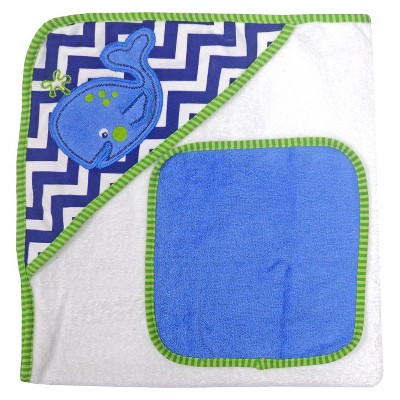 Neat Solutions® Whale Hooded Towel and Washcloth Set