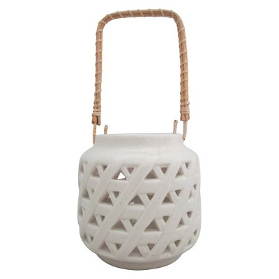 Threshold Ceramic Lantern Large - Cream