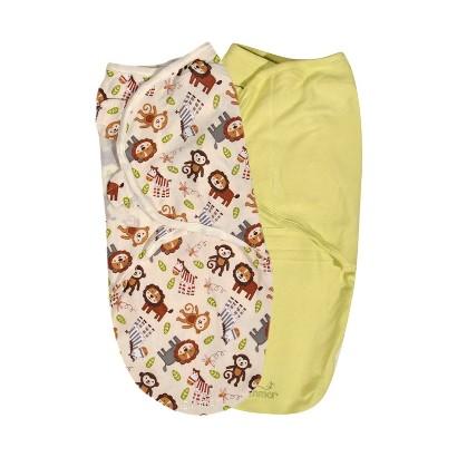 Summer Infant® SwaddleMe®-Jungle Buddies 2 Pack (Small/Medium)