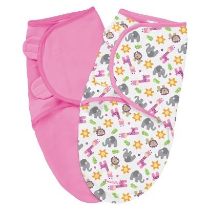 Summer Infant® Size Small/Medium SwaddleMe® Cotton 2-Pack in Sunny Safari