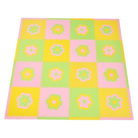 Tadpoles 16-Piece Playmat Set - Flowers