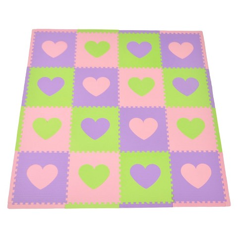 Tadpoles 16-Piece Playmat Set - Hearts