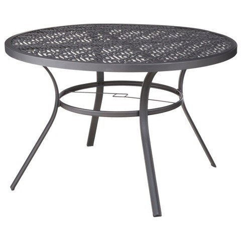 harper metal round patio dining table threshold product details