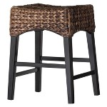 Rush Seat Counter Stool Hardwood Black Boraam Target