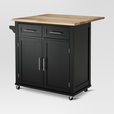 Large Kitchen Island With Wood Top And Storage Target