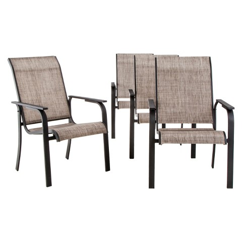 Linden 4 Piece Sling Patio Dining Chair Set Th Tar