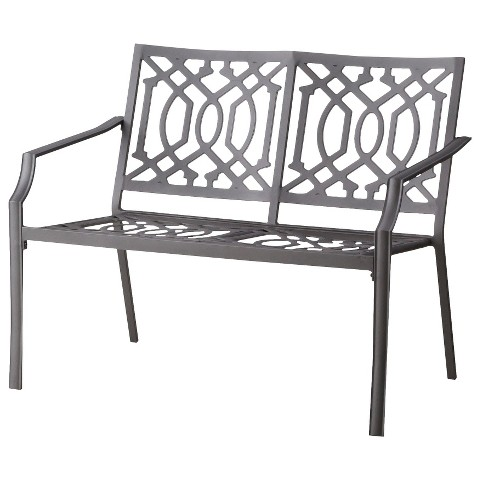 Threshold™ Harper Metal Patio Garden Bench