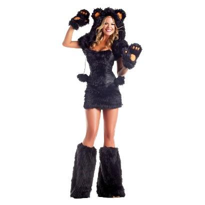 Women's Black Bear Deluxe Costume