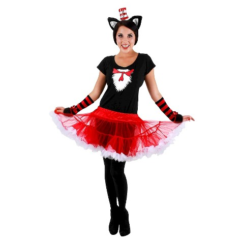 Women's Cat In The Hat Tutu  Costume
