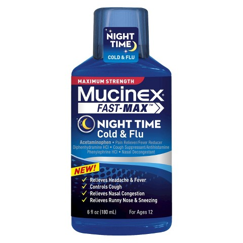 Mucinex® Fast-Max™ Night Time Cold and Flu - 6 oz