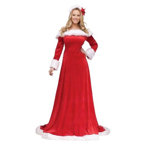 Women's Lady Santa Dress Costume
