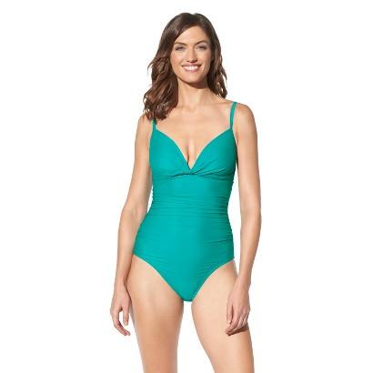 Merona® Women's 1-Piece Swimsuit -Teal